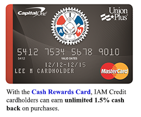 Click here to learn more about the Machinist Credit Card from Capitol One®