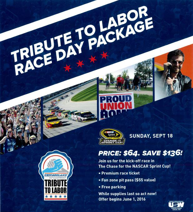 2016 NASCAR Tribute to Labor