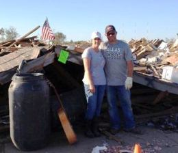Oklahoma Local 850 member George Rogers and his wife Jamie consider themselves fortunate after an EF-5 tornado demolished their home in Moore, OK.