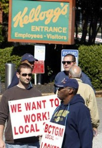 "Show your support for our fellow union brothers and sisters by signing a petition telling Kellogg to lift the lockout, drop the demand for ""casual labor"" and negotiate a fair contract. Click here to sign the petition."
