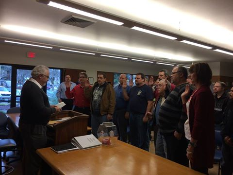 W 24 Swearing in of Officers