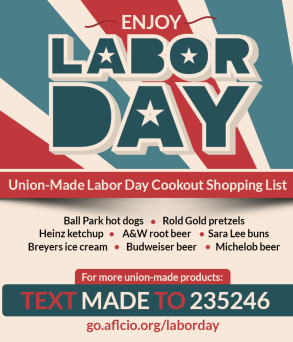 Click here to find union-made snacks, food & other products.