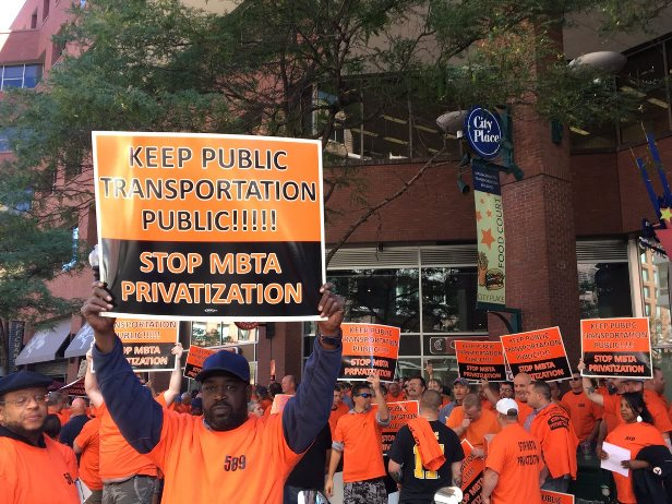 Boston Bus Mechanics Rally Against Privatization