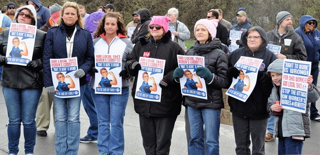 Ohio Machinists Rally to Stop Right to Work