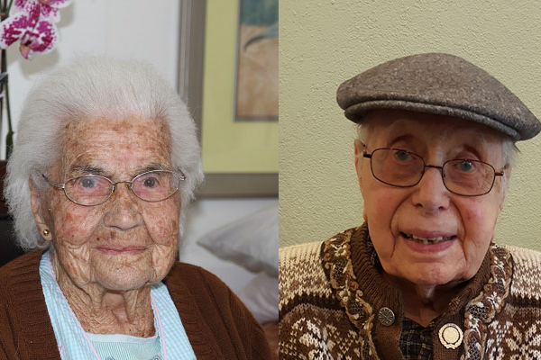 California Local Honors Lifetime Retirees, Including 105 and 104-Year-Old Members
