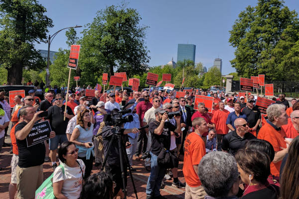 Boston Mechanics Rally to Save Public Transit