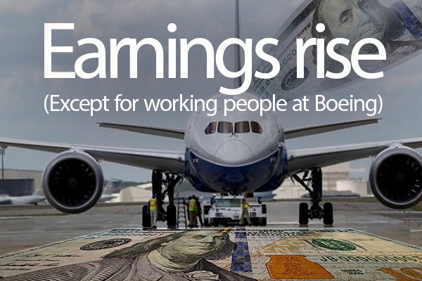 Boeing's Success Not Being Felt by Boeing Workers