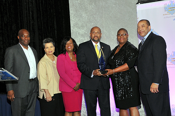 IAM Legislative Director Hasan Solomon Receives Spirit of Democracy Award