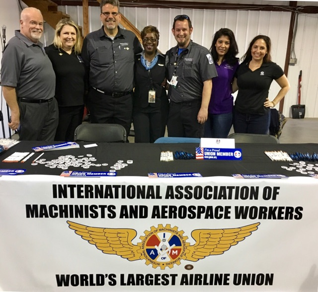IAM Representatives Participate in Inaugural Aviation Career Day