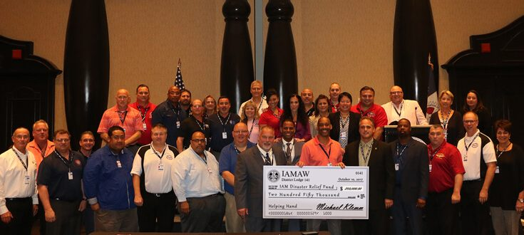 DL 141 Delivers Record-Breaking Donation to the IAM Disaster Relief Fund