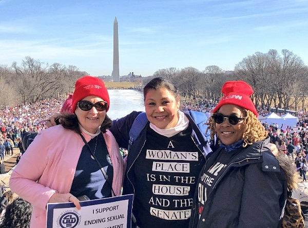 IAM Members Show Solidarity at 2018 Women's March