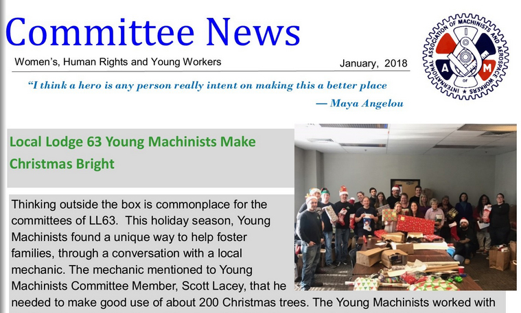 Committee News, Jan. 2018
