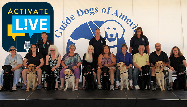 Guide Dogs in Studio on Wednesday's Activate L!VE