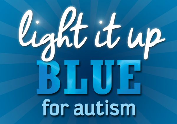 Machinists Headquarters Lights it Up Blue for Autism