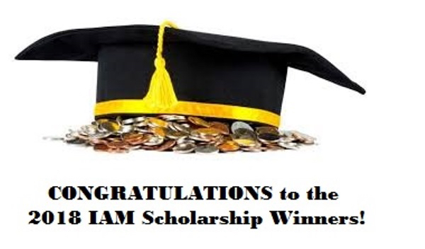 2018 IAM Scholarship Winners