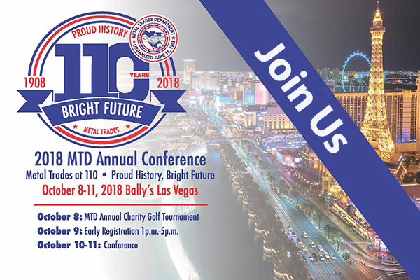 Register Now for the 2018 Metal Trades Conference