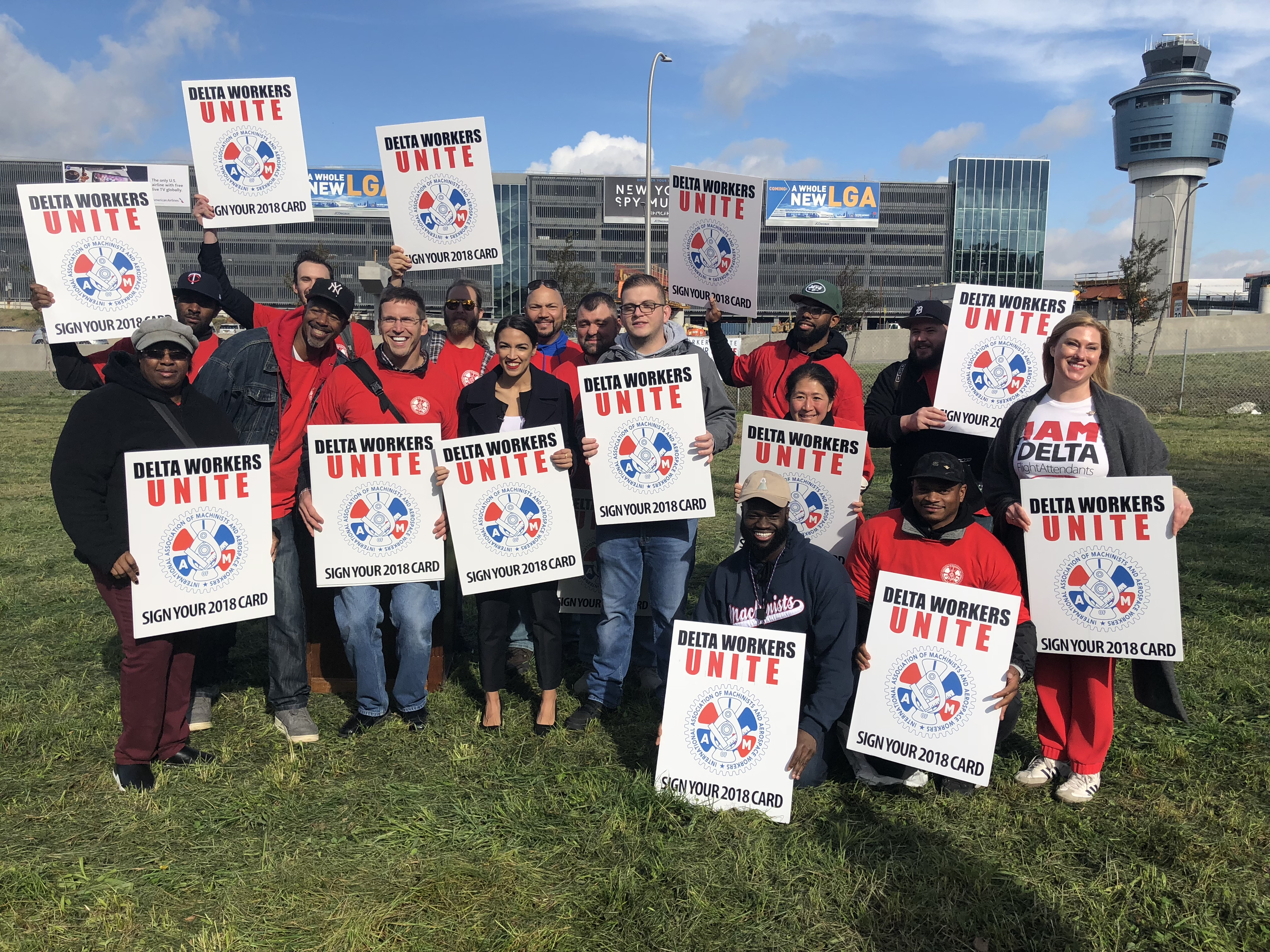 'We Can Win Together': Delta Workers Get Boost in Big Apple