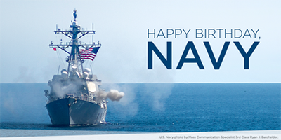 Happy Birthday, U.S. Navy