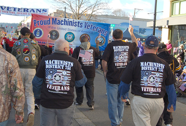 Machinists Honor Military on Veterans Day