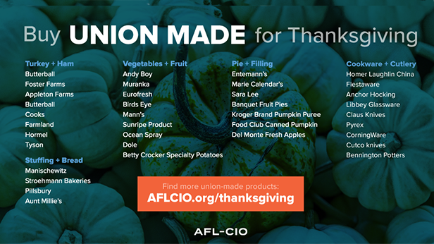 Make It a Union Made Thanksgiving