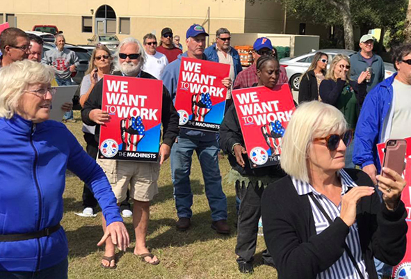 IAM NASA Federal Contract Workers Rally for Back Pay