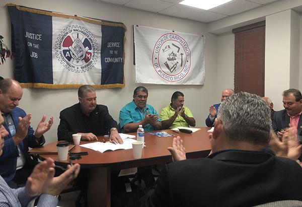 Carpinteros en Puerto Rico se unen a IAM y Esperan una Sólida Asociación
