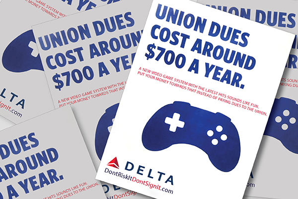 Tell Congress: Call on Delta Air Lines to Stop Their Anti-Union Campaign