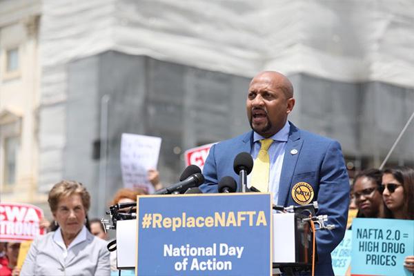 IAM Rallies Against Weak Labor Standards in NAFTA 2.0