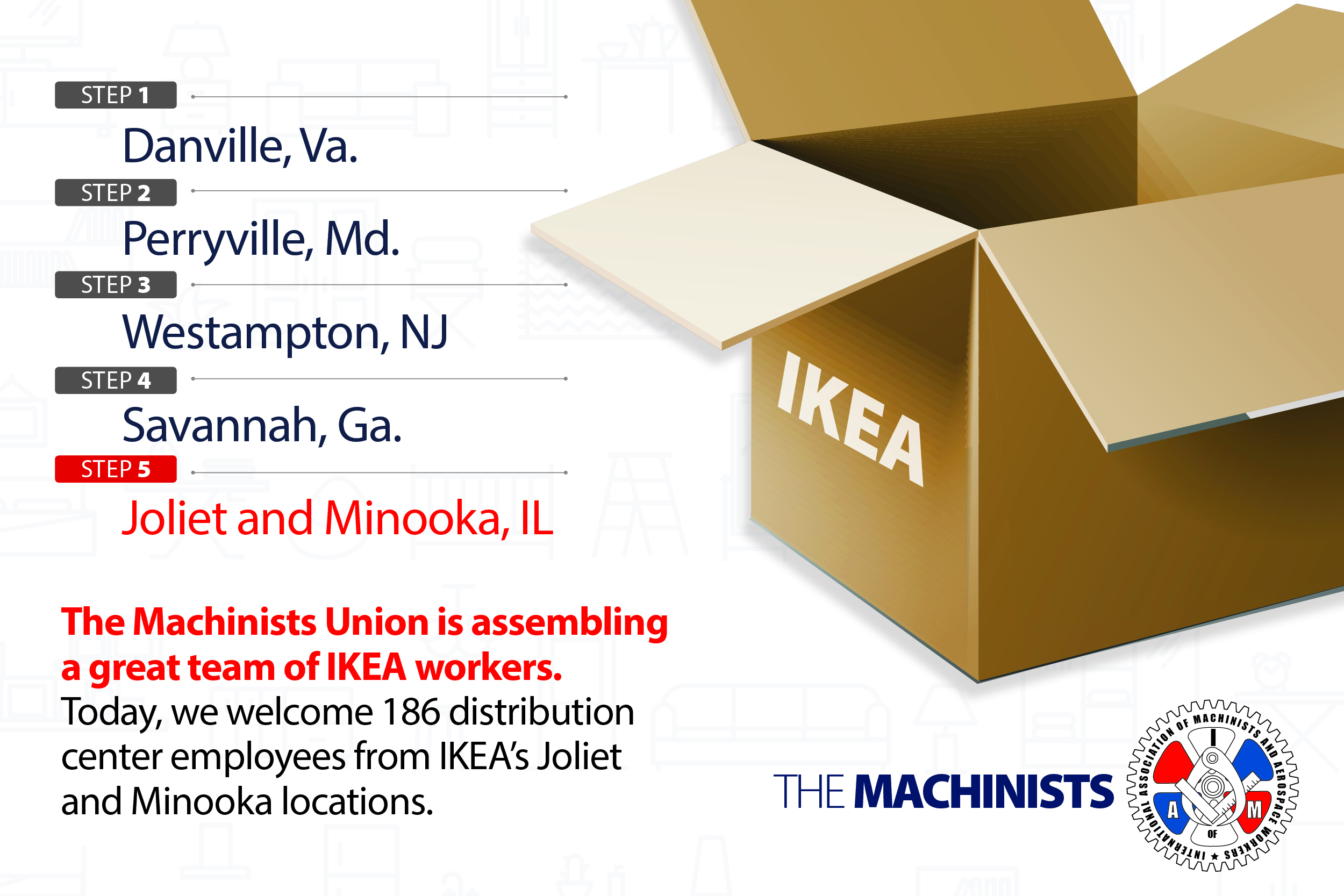 Illinois IKEA Distribution Center Workers Vote to Join Machinists Union