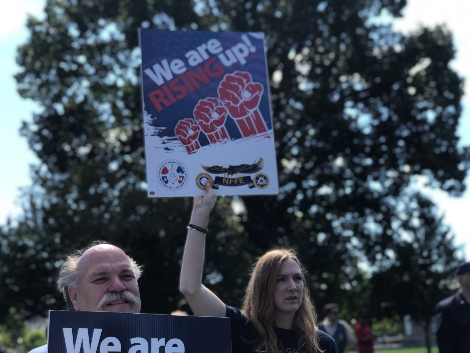 Federal Workers Rally on Capitol Hill