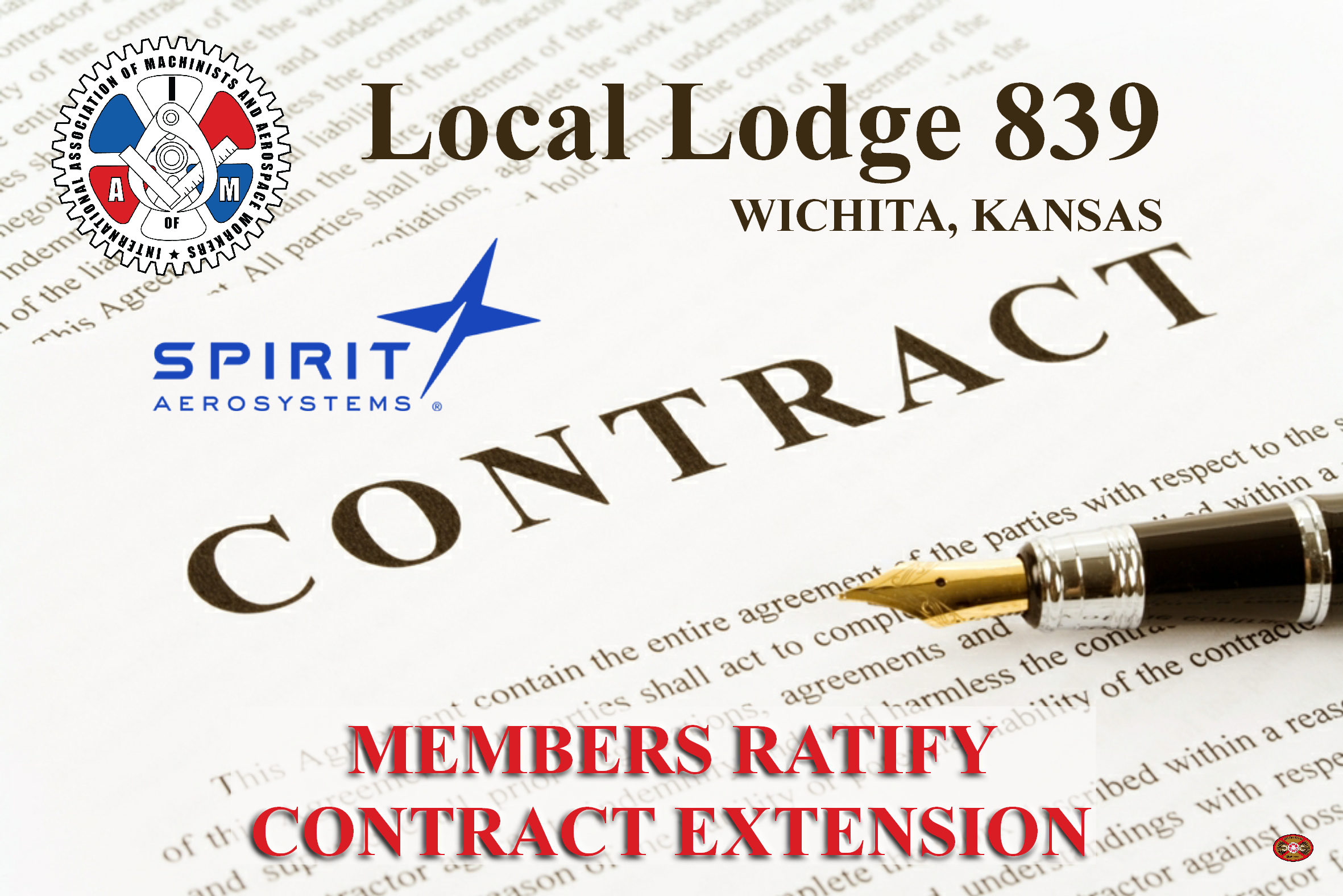 Spirit Machinists Vote Yes on Extension