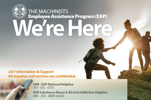 IAM EAP and Addiction Services Program Remains Available to Membership During COVID-19 Crisis