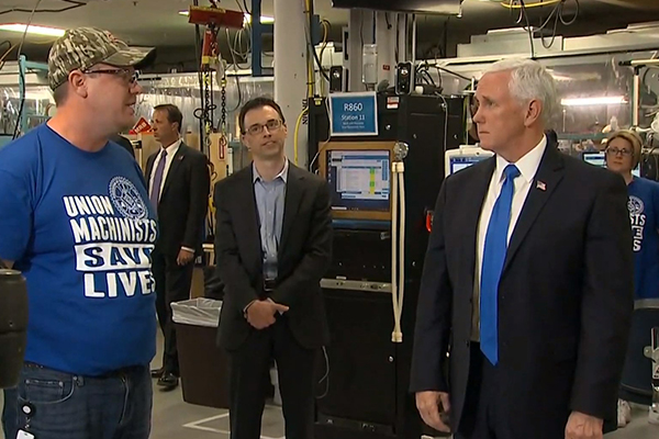 Machinists Union Statement on VP Mike Pence Visit to GE Healthcare in Madison, Wisc.
