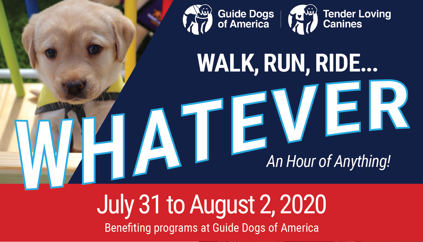 Walk, Run, Ride… Whatever for Guide Dogs of America