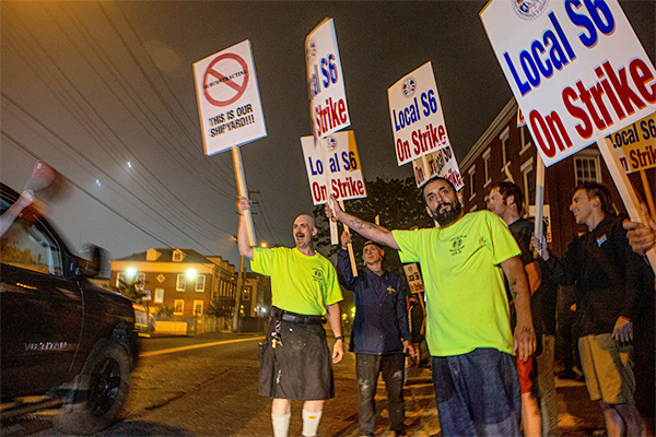 Maine Local S6 Shipbuilders Standing Strong in Strike at Bath Iron Works