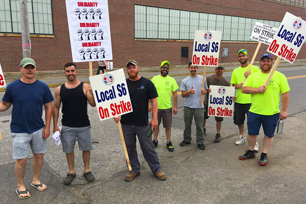 Support Grows as IAM Local S6 Strikes for Fair Contract at Bath Iron Works
