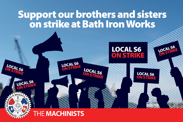 Machinists Union Asks Congress to Step in as General Dynamics Bath Iron Works Strike in Maine Enters Fourth Week