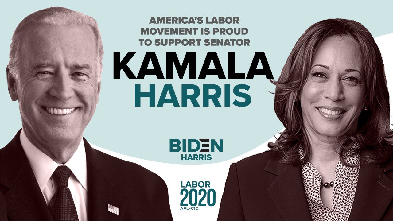 Machinists Union Applauds Kamala Harris VP Choice