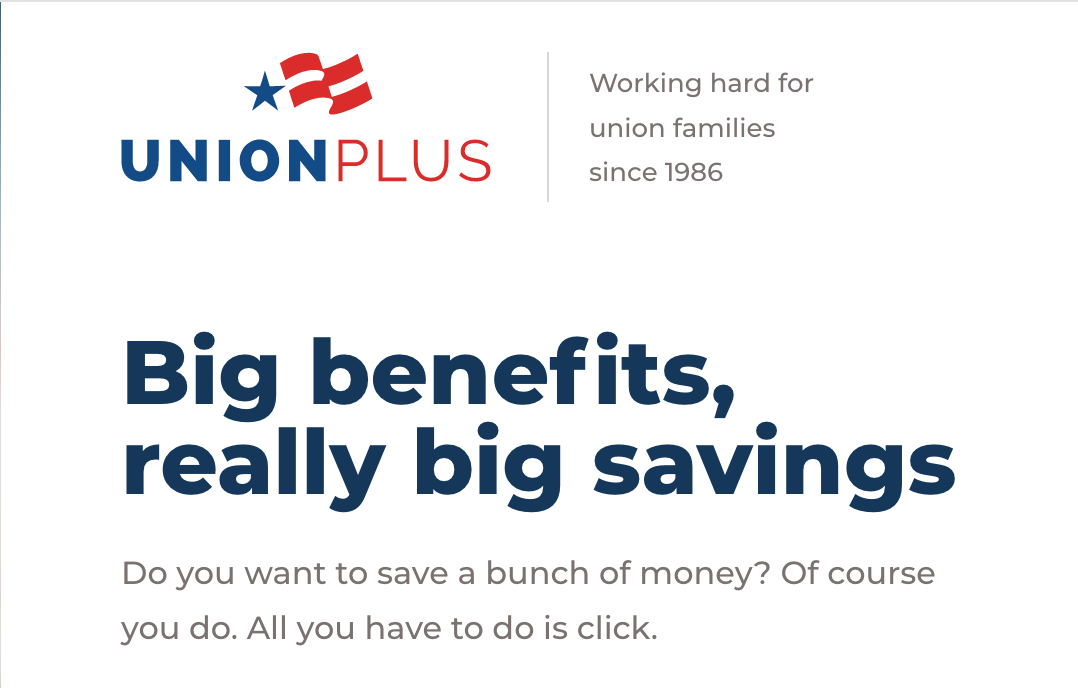Union Plus Programs for TCU Members