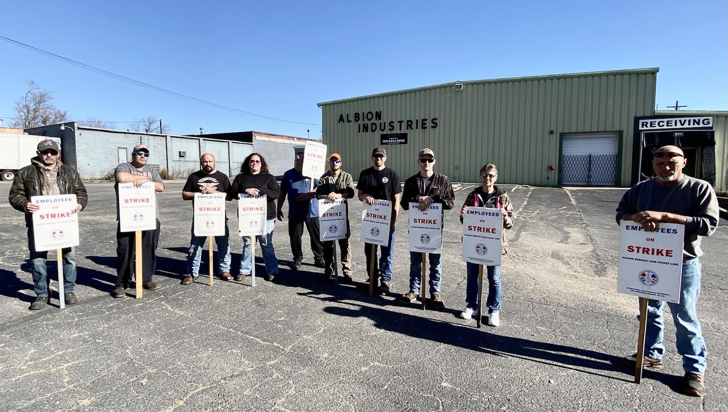 Solidarity with Michigan Local 435 Members Striking at Albion