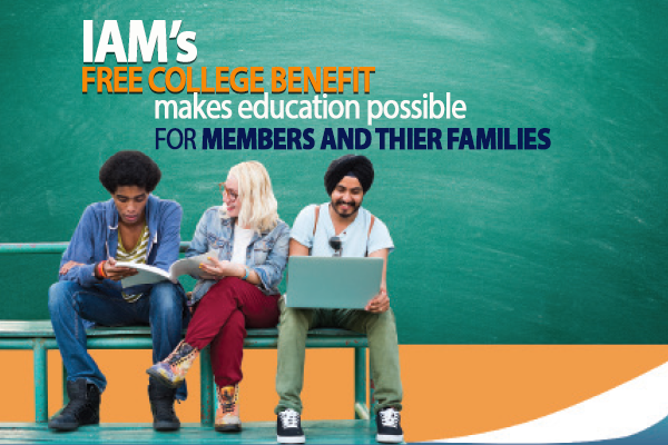 IAM's Free College Benefit Makes Education Possible for Members and Their Families