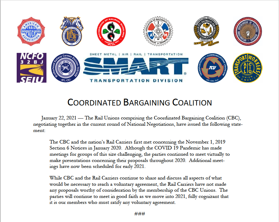 National Negotiations – Update from the Coordinated Bargaining Coalition