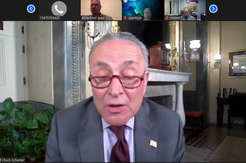 IP Martinez Leads Airline Worker Relief Call with Leader Schumer