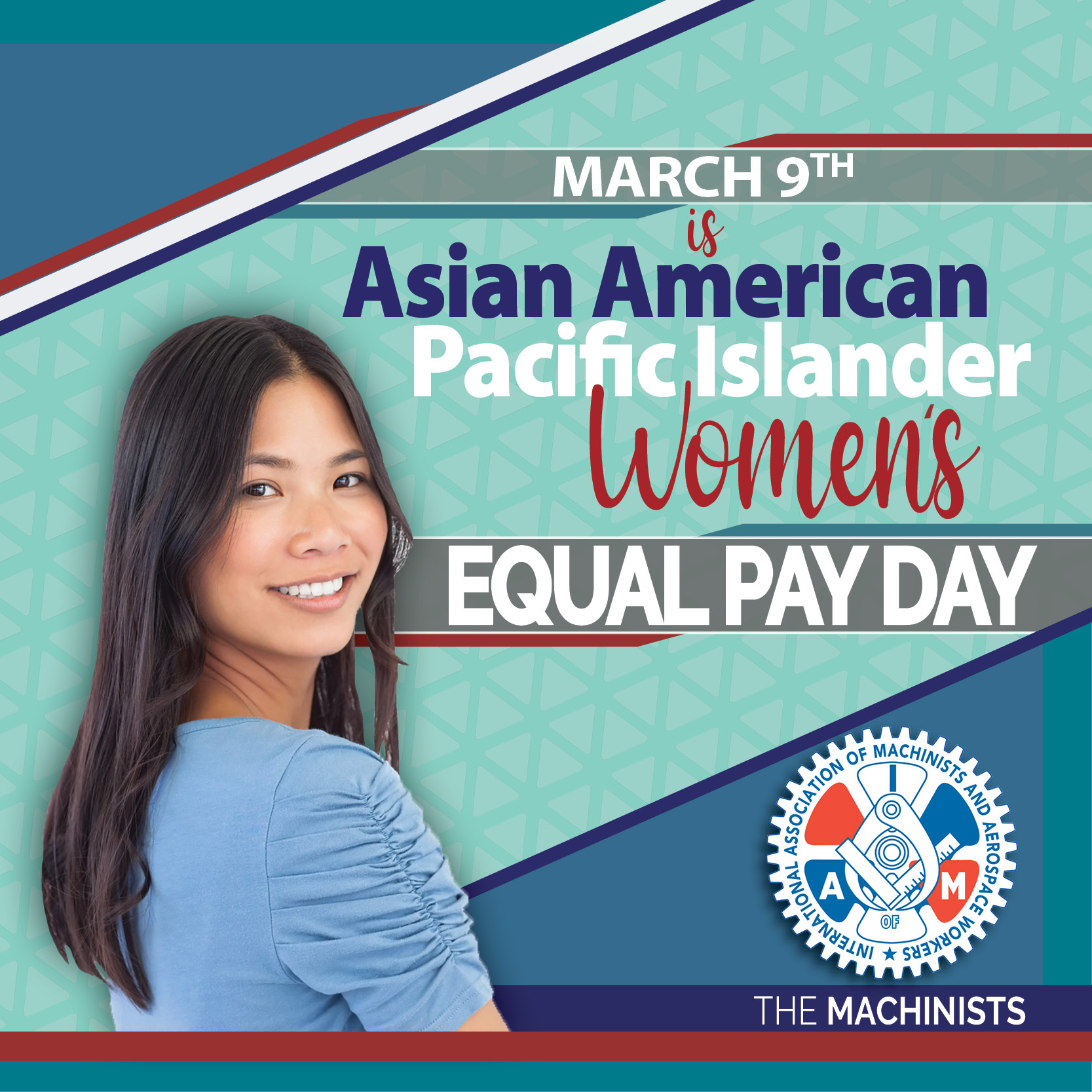 Asian American/Pacific Islander Women's Equal Pay Day is March 9th