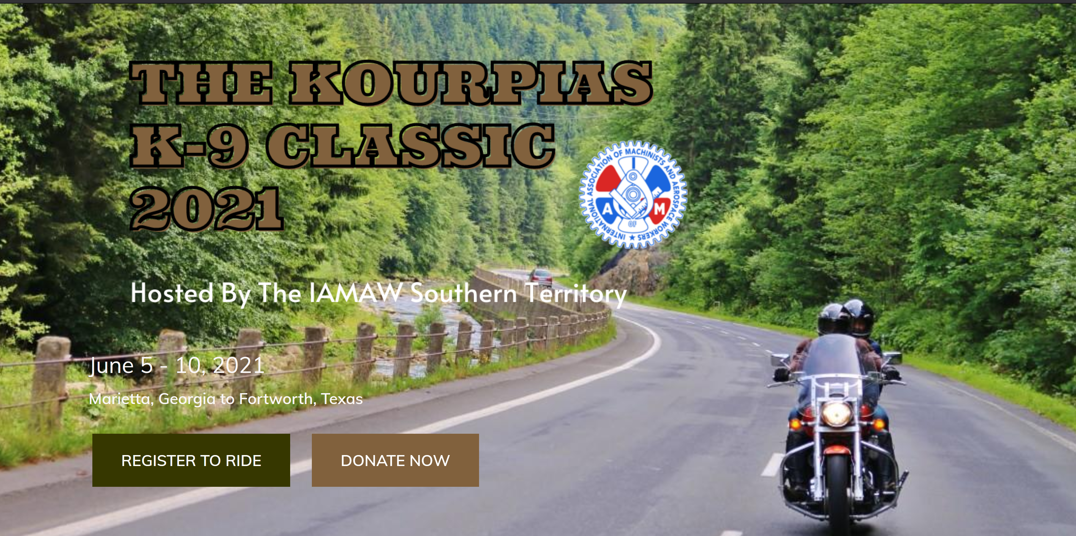 Register Now for the 2021 Kourpias K-9 Classic Motorcycle Ride