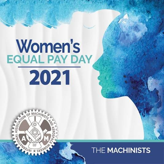Today, March 24th is Women's Equal Pay Day