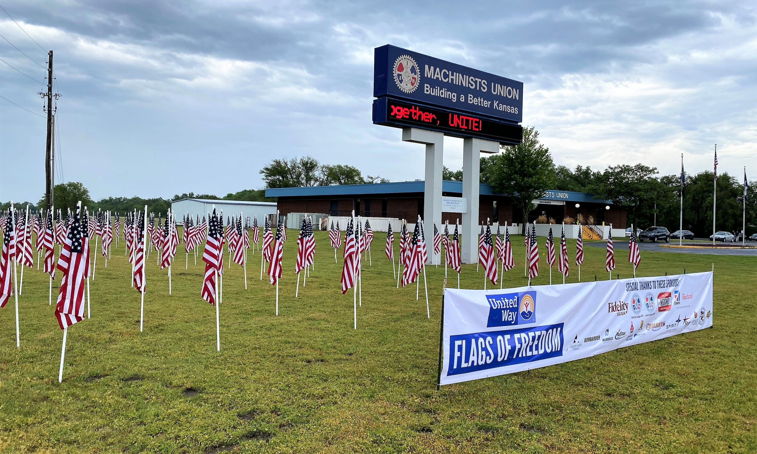 Wichita District 70 Salutes U.S. Military with Flags of Freedom Memorial Weekend Program
