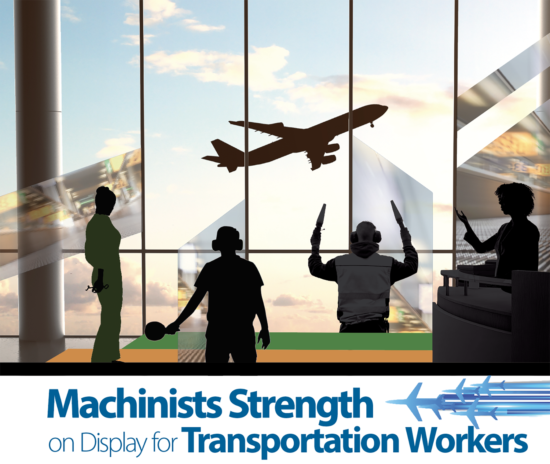Machinists Strength on Display for Transportation Workers
