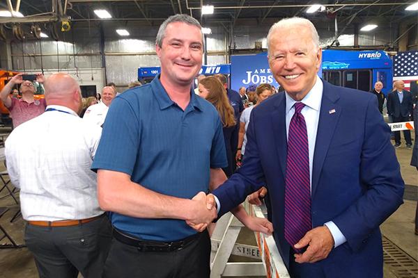 District 66 Member Meets President Biden in Wisconsin
