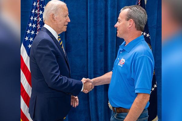 Pennsylvania Local 1717 President Meets President Biden at Buy American Speech